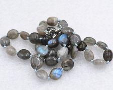 "Beautiful 8x10mm Labradorite Irregular Shapes Gemstone Necklace 18"""