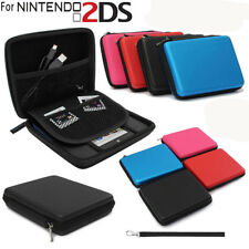For Nintendo 2DS Game EVA Hard Carrying Case Handle Bag Cover with Pocket +Strap