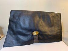 vintage 80s leather Clutch Portfolio