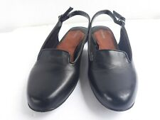 Ros Hommerson 8.5 SSWomen's Oceana Black Slingback Shoes Sandals Block Heel