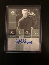 Jeff Maggert 2002 SP Authentic Sign Of The Times - Upper Deck Autographed Card