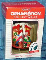 NOMA 1989 Ornamotion CHRISTMAS ORNAMENT Motion SANTA CLAUS WORKSHOP Vintage NEW