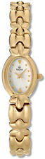 BULOVA WHITE MOP DIAL GOLD-TONE STAINLESS STEEL WOMEN'S WATCH 97T99 PRE-OWNED