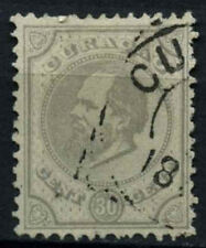Curacao 1873-9 SG#24, 30c Pearl Grey P12.5x12 Used #D43763