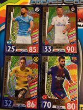 Match Attax Liga de Campeones 17/18 4 tarjetas Hat-Trick Hero Ronaldo/Agüero/Turan