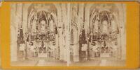 Interno Un Chiesa Foto Stereo PL55L2n Vintage Albumina c1870