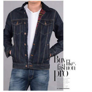 New Men's Denim Jackets boys Jeans Coats Casual Outerwear Washed Vintage Jackets