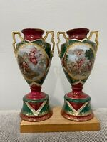 German Oscar Schlegelmilch St. Killian Porcelain Pair of Urn Form Vases Vienna