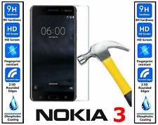2X Nokia 3 Tempered Glass Screen Protector Easy Bubble-Free Installation
