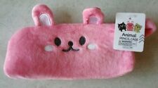 Japanese Animal Bunny Design Plush Pencil Case Pink
