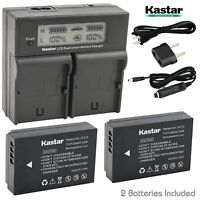 LP-E12 LPE12 Battery&LCD Dual Charger for Canon EOS 100D M M2 M10 M100 Rebel SL1