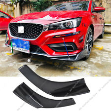 2x Carbon Fiber Universal Fit Front Bumper j Lip Splitter Winglets 27X4.7 Inch