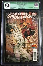 Amazing Spider-Man #7 Signed Sienkiewicz Totally Pop Culture Ms Marvel CGC Q 9.6