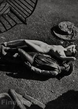 1950 Vintage Female Nude Woman & Sculpture By ZOLTAN GLASS Mid Century Photo Art