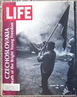 Life Magazine August 30, 1968 Czechoslovakia Paris Fashion Gangland Murder