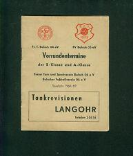 Alter Spielplan FT FV Bulach Sportvereine 1968/69 Mannschaften Termine Werbung