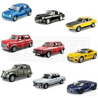 Bburago 1:32 Classic Diecast Model Cars Ford Capri Porsche BMW Citroen Mini Golf