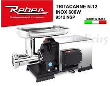 Indici15 Tritacarne Elettrico INOX 9512NSP n°12 600W 0,80HP Professionale Reber