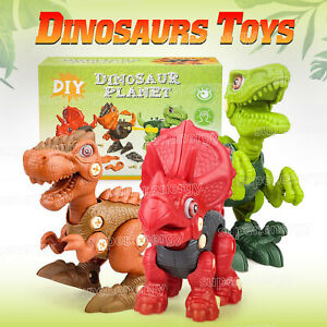 Kids DIY Dinosaurs Toys Puzzle Model For 4-6 Year Old Boy Educational Assemble