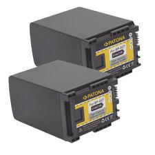 2x Batterie Patona 7,4V 2000mAh Pour Canon Legria HF M406,HF M41,HF M46,HF S10