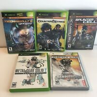 Microsoft Xbox - Video War Games Metal Gear Solid, Unreal Championship, Counter