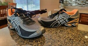 Mens Asics Gel Frantic 6 Black Orange Running Shoes Sneakers 12 Great Condition