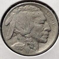 USA 1915 Buffalo Nickel 5 Cent Philadelphia Gute Erhaltung Selten #11722