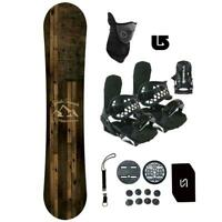Symbolic Freedom Snowboard+Bindings Package Kid Youth Stomp+Leash+Mask+Burton 3D