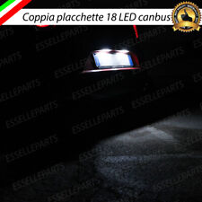PLACCHETTE A LED LUCI TARGA 18 LED SPECIFICHE RENAULT MEGANE MK3 6000K NO ERROR