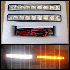 2 x 4W 8 LED Tagfahrlicht Weiß mit Blinker Gelb - Tagfahrleuchten TFL DRL 12V E4