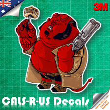 Famous FAT Series Hellboy JDM Sticker Car Decal Luggage Skateboard 3M Film 100mm