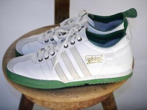 adidas Samba 62 Schuhe Sneaker Weiß Grün Vintage Herren Größe 42 2/3 (US 9)