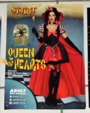 Spirit Evil Queen of Hearts Halloween Costume Adult Size: Large 10 - 14