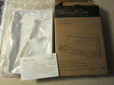 The Pampered Chef New 3 Coating Trays & Tool 2605 Interlocking Sides, Stackable