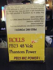 Rolls PB23 Mic Power I 48 Volt Phantom Power Supply Amp - Brand New!!!