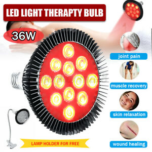36W Therapy Light Panel Red&Near 660-850nm LED Infrared Therapy Lamp Bulb W