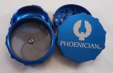 """Medium 2.36"""" Blue Phoenician 4-Piece Grinder with Free Bumpers"""