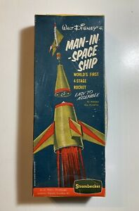 WALT DISNEY'S MAN-IN-SPACE SHIP Rocket Box Only RARE Strombecker D26-100 1956