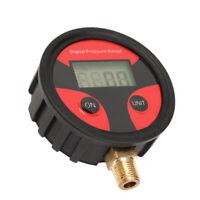 LCD Digital Cars Motorcycle Tire Tyre Air Pressure Gauge Inflator Tester 1/8 NPT
