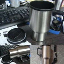 12V Car Electric Heater Mug Stainless Steel Cups Hotting Tea Coffee Water Auto