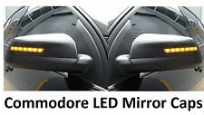 Holden Commodore VE Omega Black LED mirror covers amber blinkers sedan wagon ute