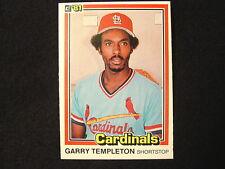 1981 Garry Templeton #187 Wrong Back Keith Hernandez #67 Error Cardinals Donruss