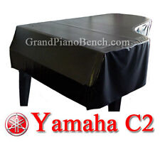 "Yamaha Black Vinyl Grand Piano Cover for Yamaha C2 - 5'8"" - Side Slits"