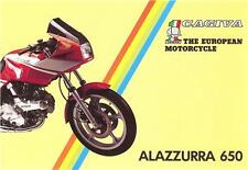 1985 Cagiva Alazzurra 650 4 pg original sales brochure