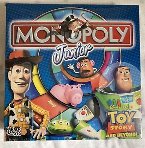 HASBRO PARKER 2002 Jeu NEUF scellé MONOPOLY JUNIOR Disney TOY STORY AND BEYOND