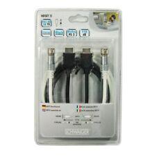 Schwaiger HDTV DE SATÉLITE conjunto de conexiones cable coaxial 110dB 1, 5 m