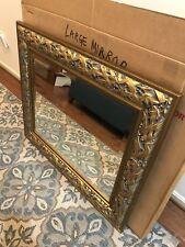 Large Wall Mirror Ornate Leaf Frame