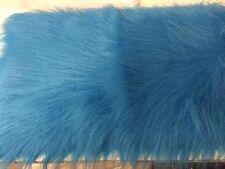 "Long beautiful turquoise  Fur Fabric  18""X20""  46cm x 51cm"