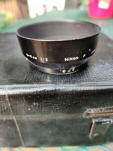 Vintage Nikon F Lens Hood f=5cm 1:2 JAPAN