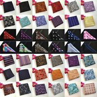 Men Paisley Flowers Polka Dots Stripe Pocket Square Wedding Handkerchiefs